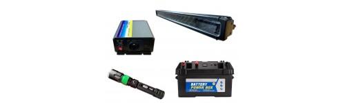 Eclairage, énergie et batteries pour 4x4